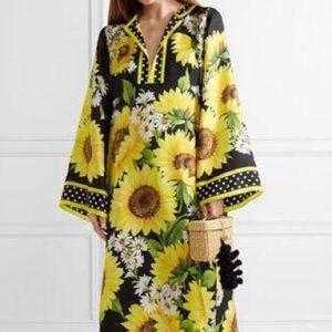 Sunflower Kaftan dress NWOT